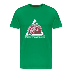 Zombie Food Pyramid Shirt for Men - Men's Premium T-Shirt