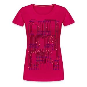 F(X) Circuit Board  - Women's Premium T-Shirt