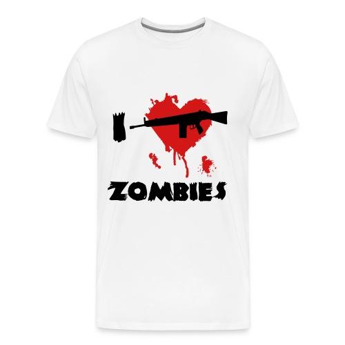 I Heart Killing Zombies Shirt for Men - Men's Premium T-Shirt