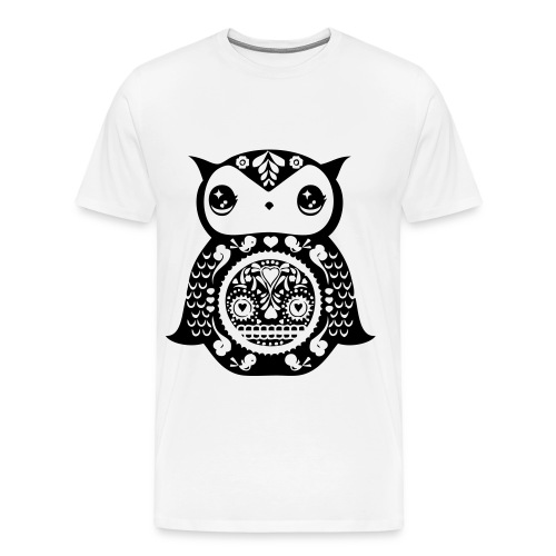 Sugar Skull Owl - Men's Premium T-Shirt