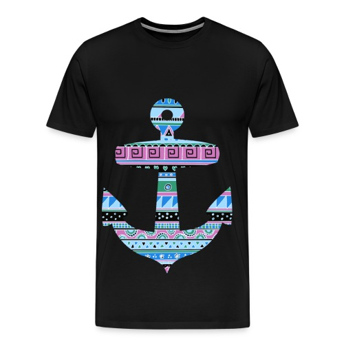 Hipster Anchor - Men's Premium T-Shirt