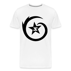 SWIRL Logo Tee - Black on White - Men's Premium T-Shirt