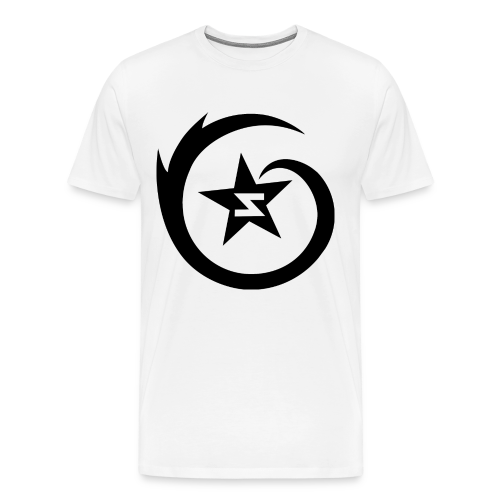SWIRL Logo Tee - Black on White - Men's Premium T-Shirt