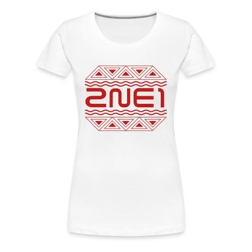 Women's Glittery 2NE1 Logo Fitted Tee - Women's Premium T-Shirt
