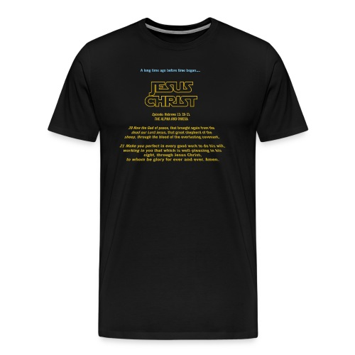 Jesus Christ Alpha and Omega - Men's Premium T-Shirt