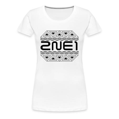 Women's 2NE1 Logo Fitted Tee - Women's Premium T-Shirt