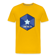 T-Shirts ~ Men's Premium T-Shirt ~ I Am the 2% - Men's Yellow