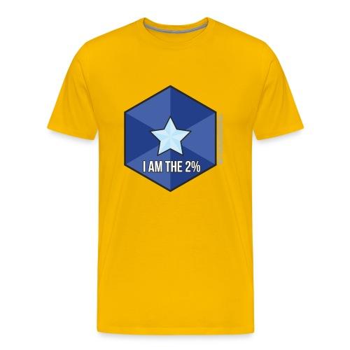 I Am the 2% - Men's Yellow T - Men's Premium T-Shirt