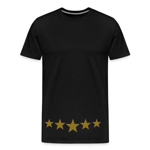 Black & Gold Collection Stars - Men's Premium T-Shirt