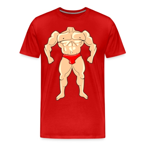 Tiny Body Builder Men's 3x4x T-Shirt - Men's Premium T-Shirt