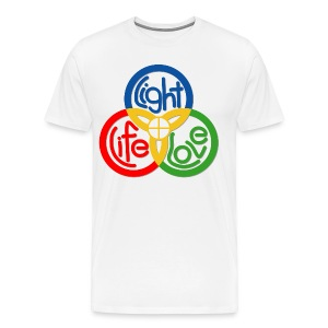 Eucharist: Light, Life and Love - Men's Premium T-Shirt