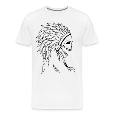 Indian Skull Head T-Shirts