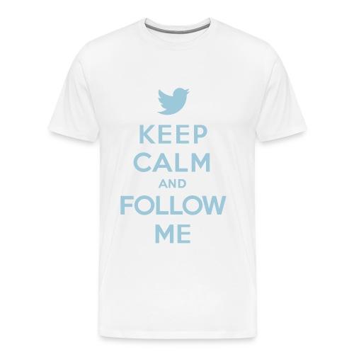 Keep Calm Twitter Men's T-Shirt - Men's Premium T-Shirt