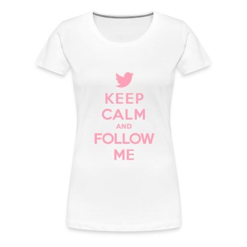 Keep Calm Twitter Women's T-Shirt - Women's Premium T-Shirt