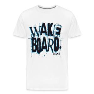 Wakebord Black Blue - Men's Premium T-Shirt