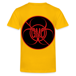 No GMO T-shirts Kid's NO GMO Activism Bio-hazard Food Shirts - Kids' Premium T-Shirt