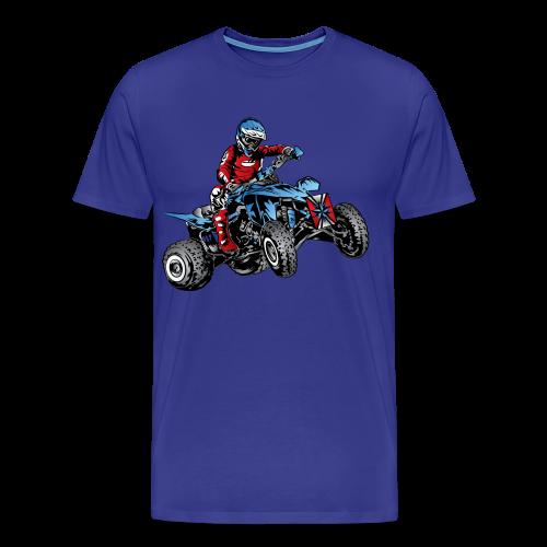 Blue Quad Rider Shirt  - Men's Premium T-Shirt