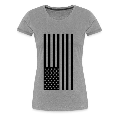 Black american flag - Women's Premium T-Shirt