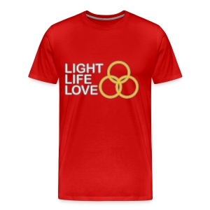 Light, Life, Love with Rings - Men's Premium T-Shirt