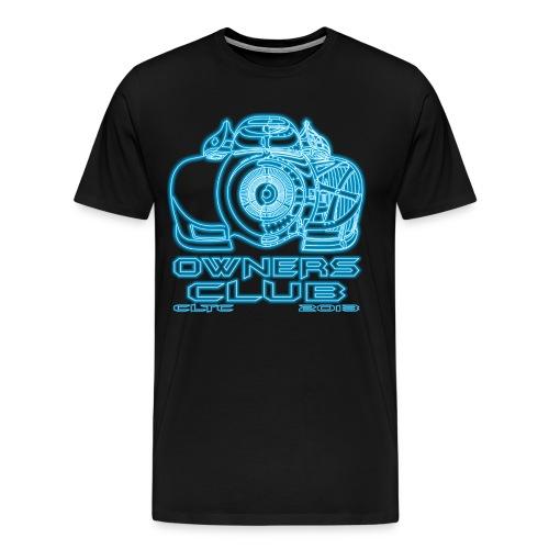 4XL Neon Shirt Front - Men's Premium T-Shirt