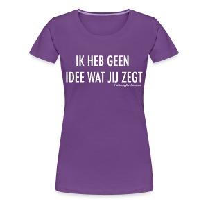 Translation (white) - Women's Premium T-Shirt