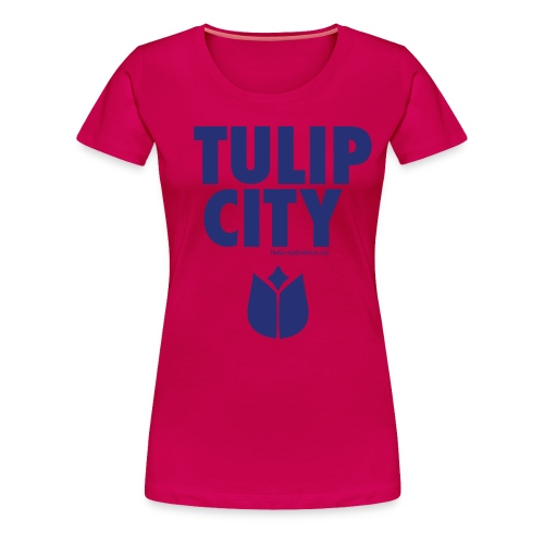 Tulip City (blue) - Women's Premium T-Shirt