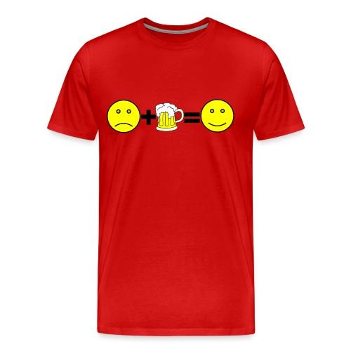 Beer: Liquid Happiness Men's 3XL/4XL T-Shirt - Men's Premium T-Shirt
