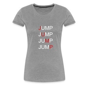 Women's Fitted JUMP! - Women's Premium T-Shirt