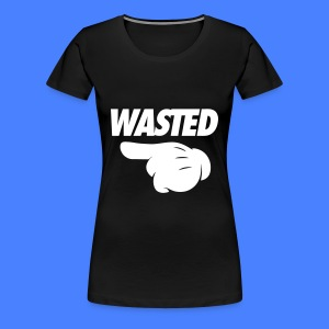 Wasted Pointing Left Women's T-Shirts - Women's Premium T-Shirt