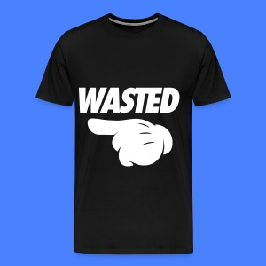 Wasted Pointing Left T-Shirts - Men's Premium T-Shirt