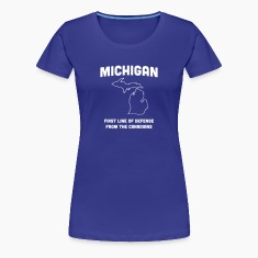 Michigan. First Line of Defense from Canadians Women's T-Shirts