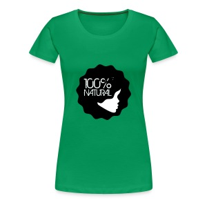 100% Natural Afro Lady - Women's Premium T-Shirt