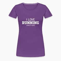 I Love Running When I'm Done Women's T-Shirts