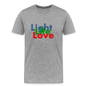 Light Life Love RGB Bold I - Men's Premium T-Shirt
