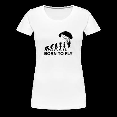 Evolution Parachute jumping Women's T-Shirts