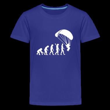 Evolution Parachute jumping Kids' Shirts