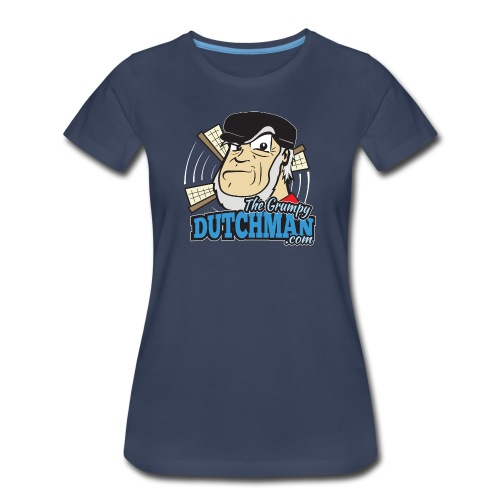 Gumpy's Logo Shirt (Front)  White Outline for Dark Shirts - Women's Premium T-Shirt