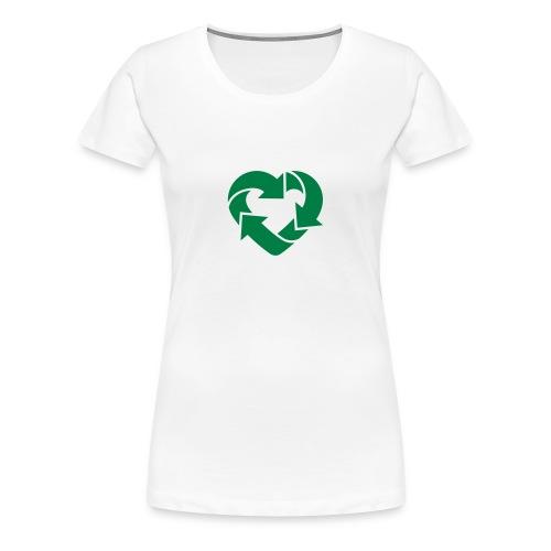 Love to Recycle - Women's Premium T-Shirt