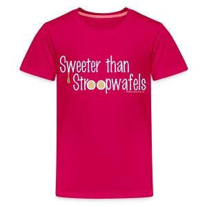 Stroopwafels (with white lettering for darker shirts) - Kids' Premium T-Shirt