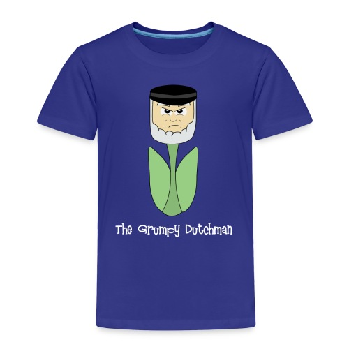 Grumpy Tulip (with white lettering for darker shirts) - Toddler Premium T-Shirt