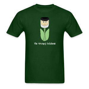 Grumpy Tulip (with white lettering for darker shirts) - Men's T-Shirt