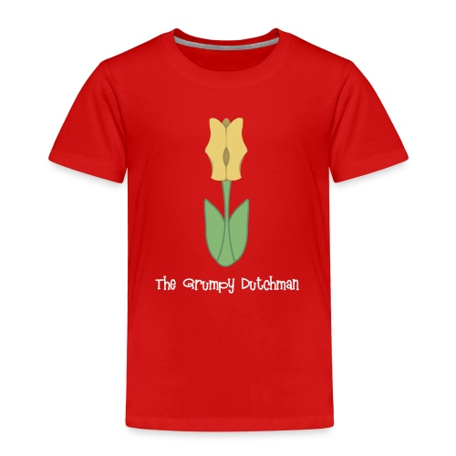 Shoe Tulip (with white lettering for darker shirts) - Toddler Premium T-Shirt