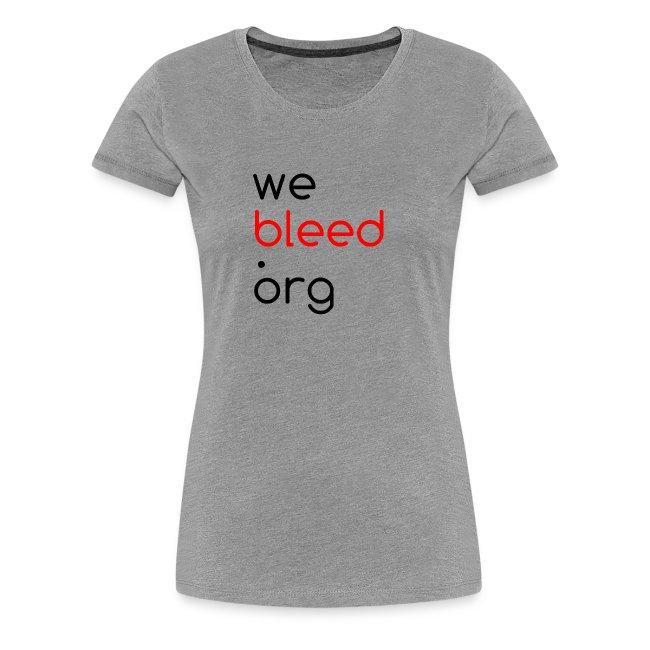 webleed.org logo t-shirt