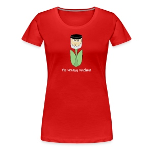 Grumpy Tulip (with white lettering for darker shirts) - Women's Premium T-Shirt