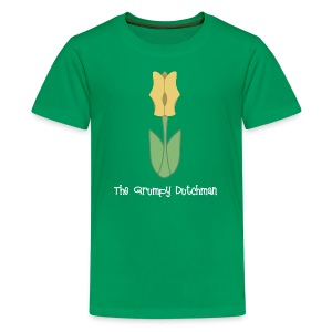 Shoe Tulip (with white lettering for darker shirts) - Kids' Premium T-Shirt