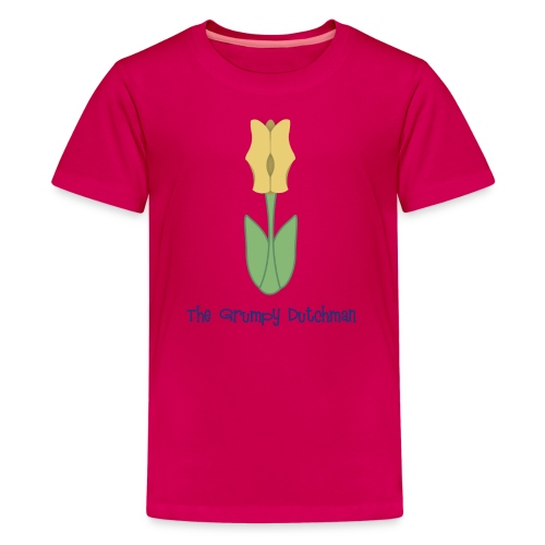 Shoe Tulip (with blue lettering for lighter shirts) - Kids' Premium T-Shirt