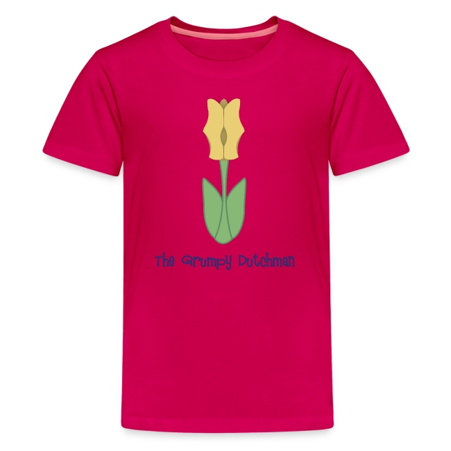 Shoe Tulip (with blue lettering for lighter shirts)