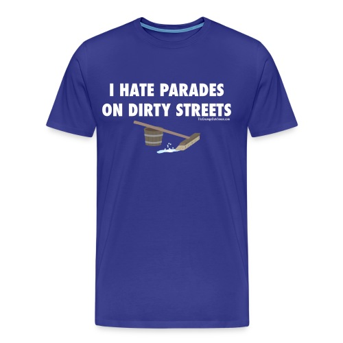 Parades (with white lettering for dark shirts) - Men's Premium T-Shirt