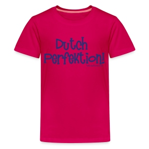 Dutch Perfektion (with blue lettering for lighter shirts) - Kids' Premium T-Shirt
