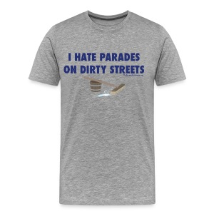 Parades (with blue letters for lighter shirts) - Men's Premium T-Shirt